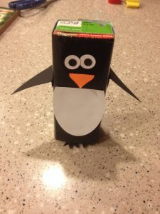 juice box penguin craft