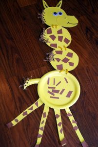 Paper-plate-giraffe-craft-idea