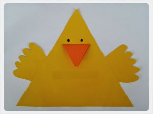 chick craft idea for preschool kids