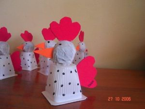 recycled chicken craft