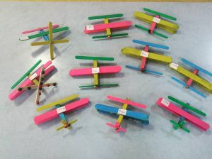 clothes pin plane craft