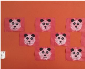 fork-stamp-panda-bear-craft-idea