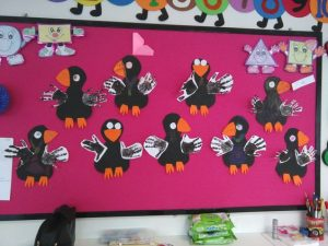 handprint crow craft