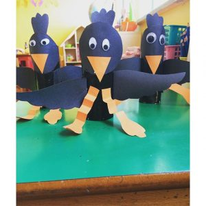 toilet paper roll crow craft idea