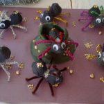 egg carton ant bulletin board idea for kids