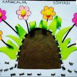 fingerprint ant bulletin board idea for kids