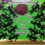 popsicle stick ant bulletin board