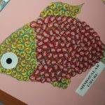 bottle cap fish buleltin board idea