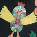 cd bird craft idea for kids