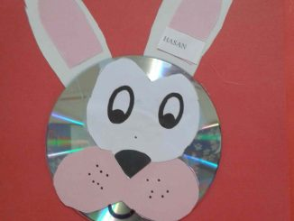 cd bunny craft idea for kids