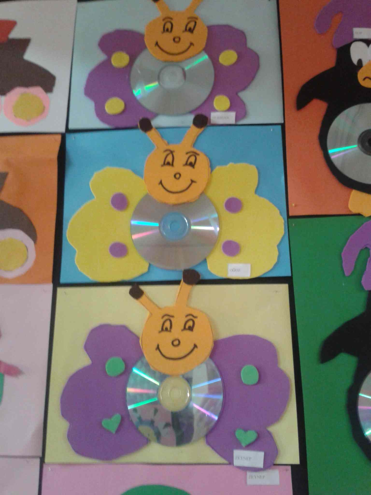 cd butterfly craft idea for kids