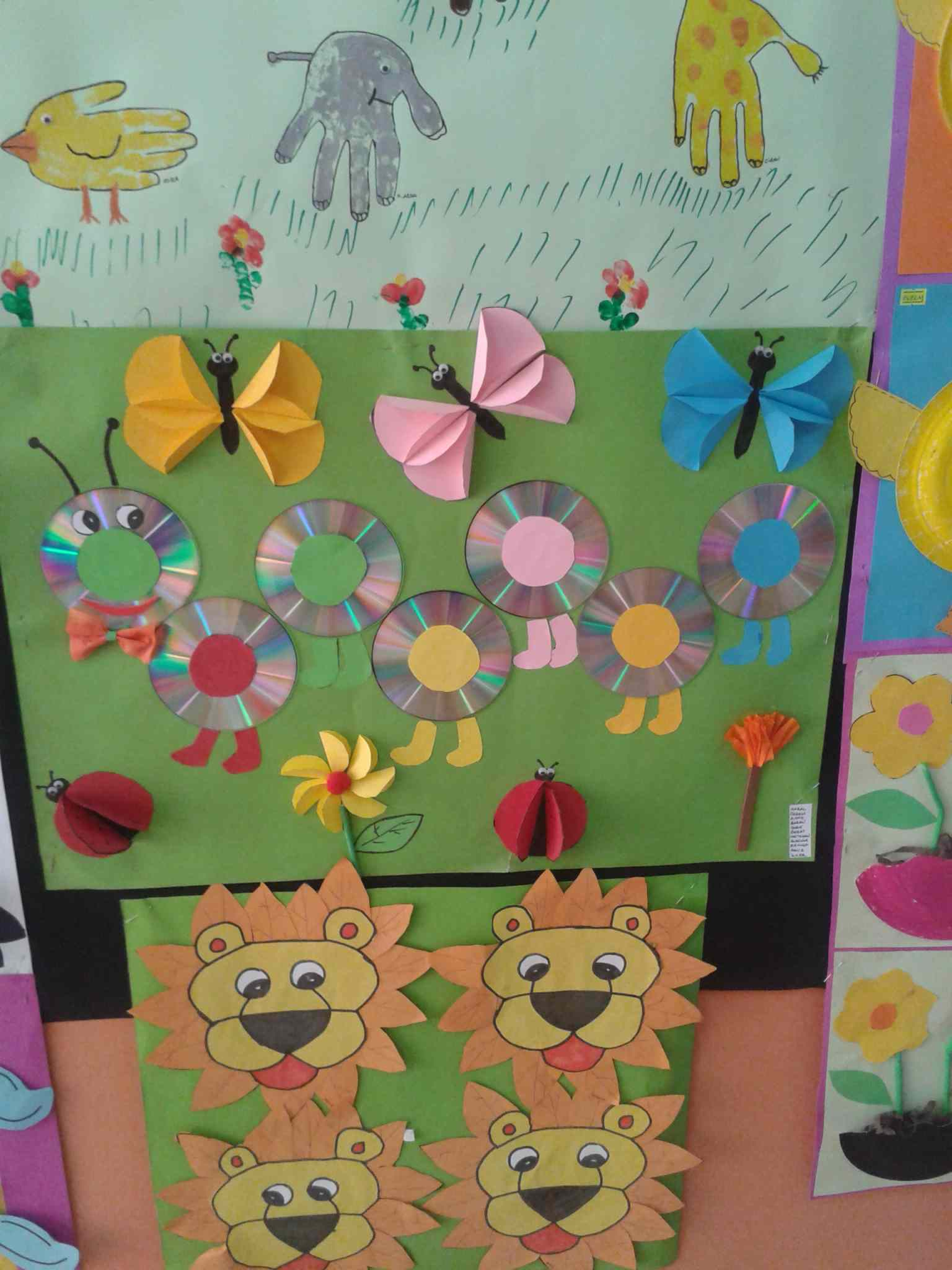 cd caterpillar bulletin board idea