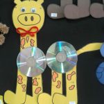 cd giraffe craft idea