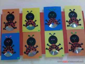 cd ladybug craft idea for kids