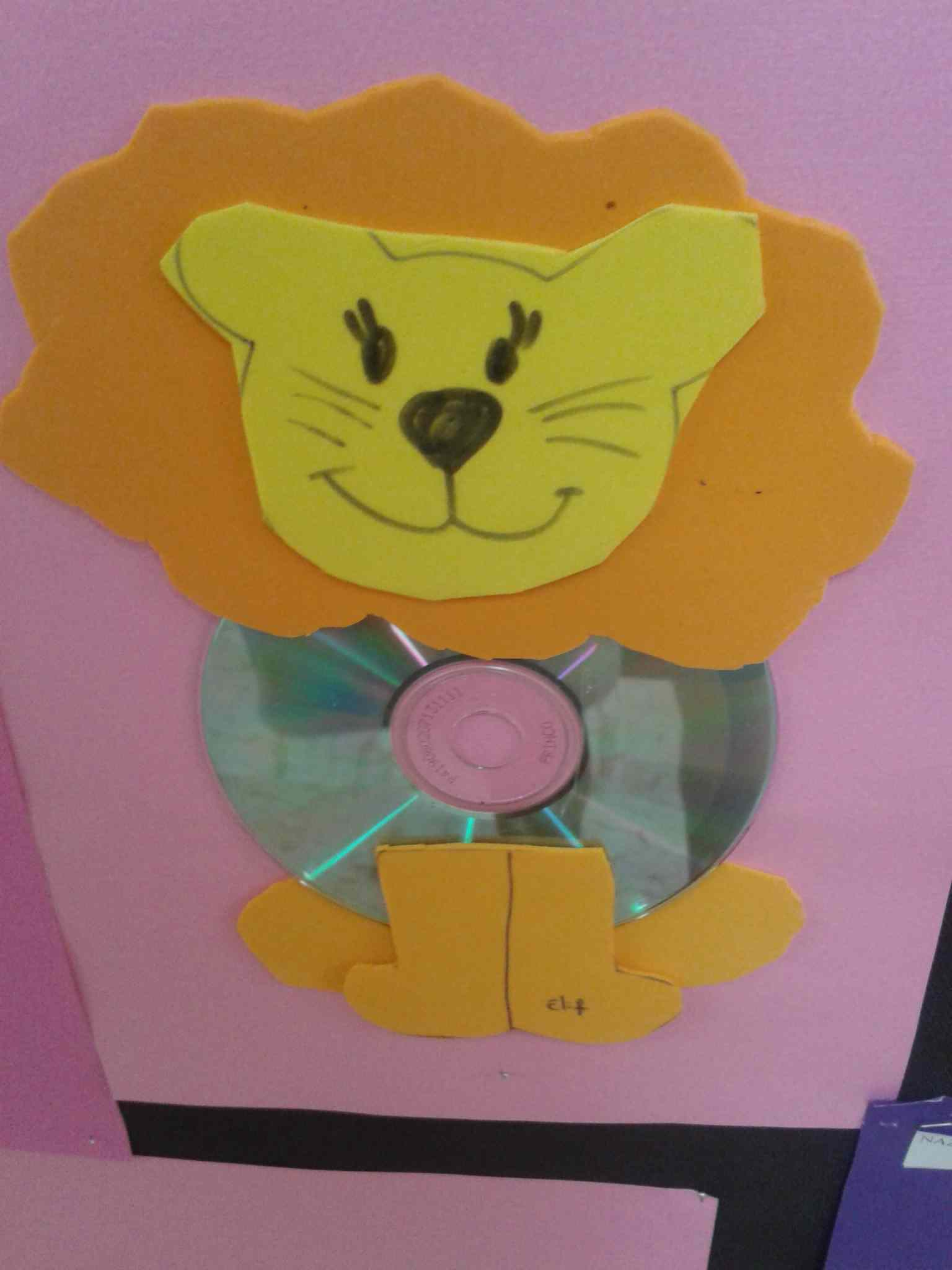 cd lion craft idea