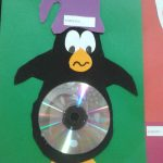 cd penguin craft idea for kids