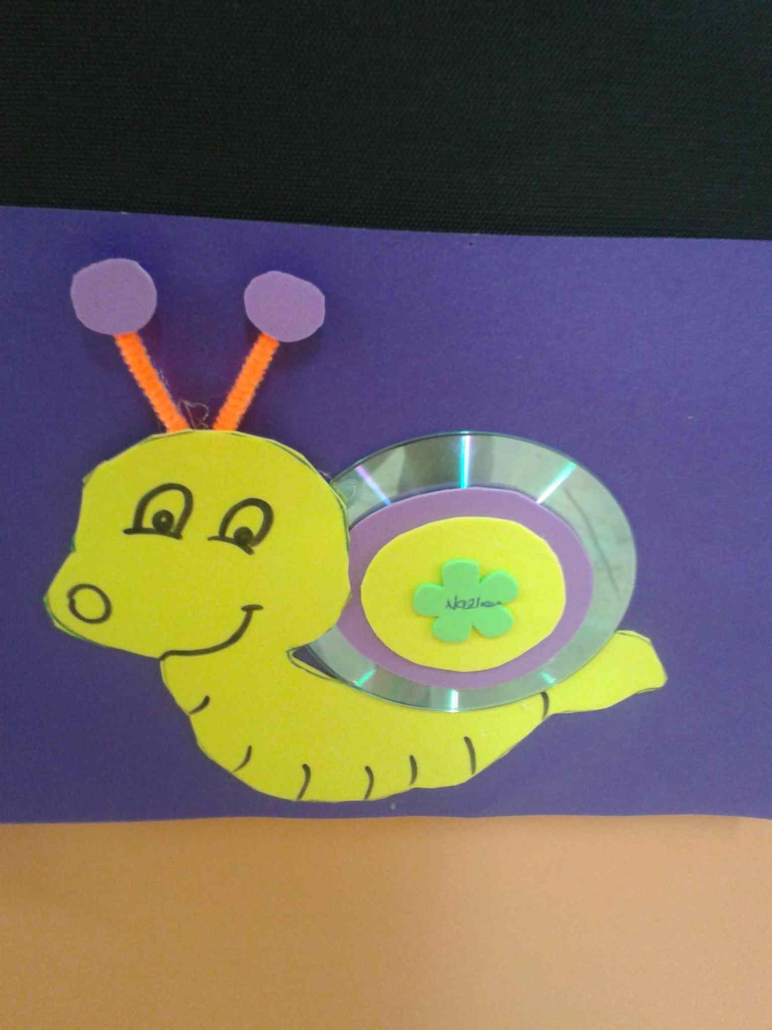 cd snail craft idea for kids