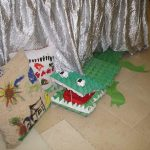 egg carton crocodile craft