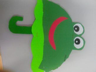 frog-umbrella-craft-idea