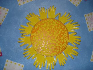 handprint sun craft