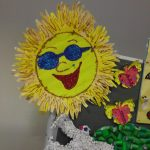 handprint sun craft idea for kids