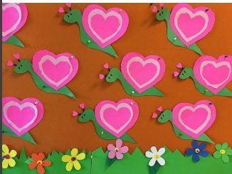 heart snail craft
