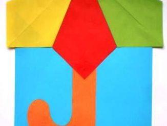 origami umbrella craft