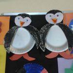 paper plate penguin craft idea