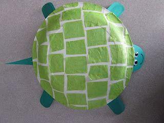 paper plate turtle craft idea (1)