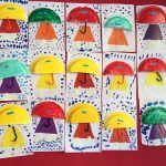 paper plate umbrella craft idea for kids