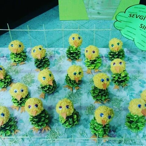 pine cone chick craft