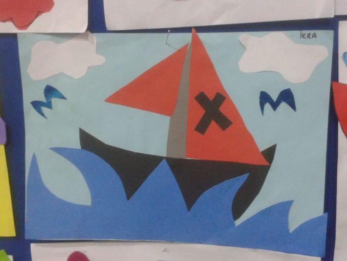 pirate ship craft idea for kindergarten