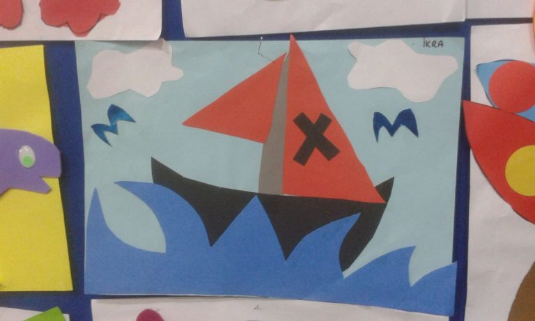 pirate ship craft idea for kindergarten
