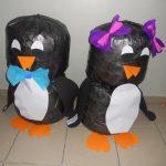 plastic bag penguin craft idea