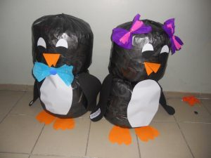 plastic bag penguin craft idea
