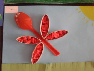 plastic spoon butterfly craft