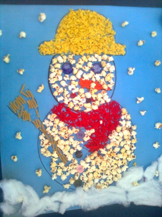 popcorn-snowman-craft-idea