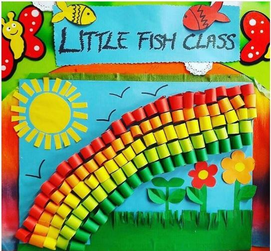 rainbow bulletin board idea
