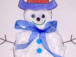 snowman craft idea for winter season