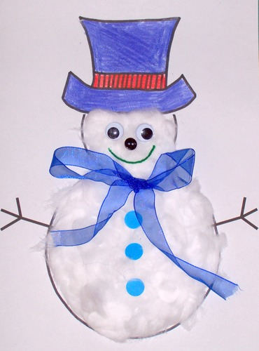 snowman craft idea for winter season