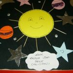 space bulletin board idea for kids