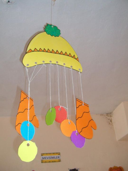 winter clothes craft idea for kids
