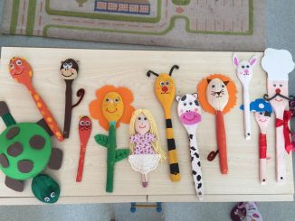 wooden spoon craft idea for kids