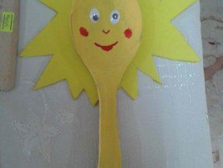wooden spoon sun craft