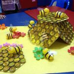 bottle-cap-beehive-craft