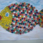 bottle cap fish bulletin board