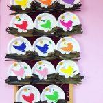 paper plate bird nest craft idea for kids