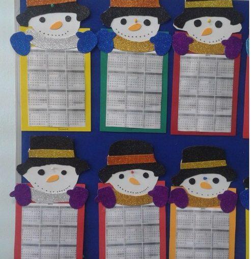 snowman calendar craft