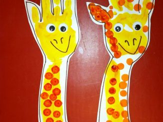 Giraffe-Handpint-craft-idea