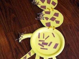 Paper-plate-giraffe-craft-idea